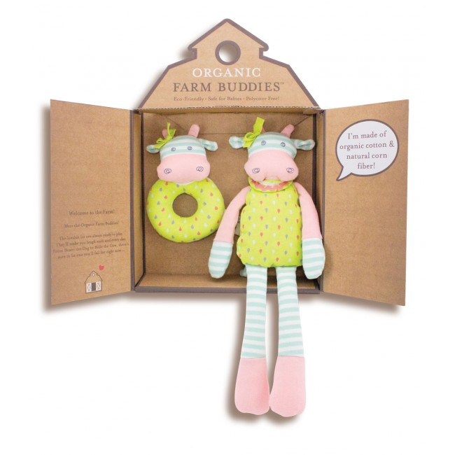 EarthHero - Belle Cow Organic Plush Gift Set 1