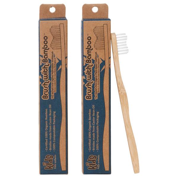 EarthHero - Brush With Bamboo Kids Bamboo Toothbrush 2
