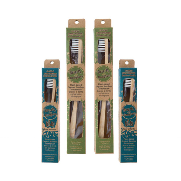 EarthHero - Family Bamboo Toothbrush Set - 4pk - 1