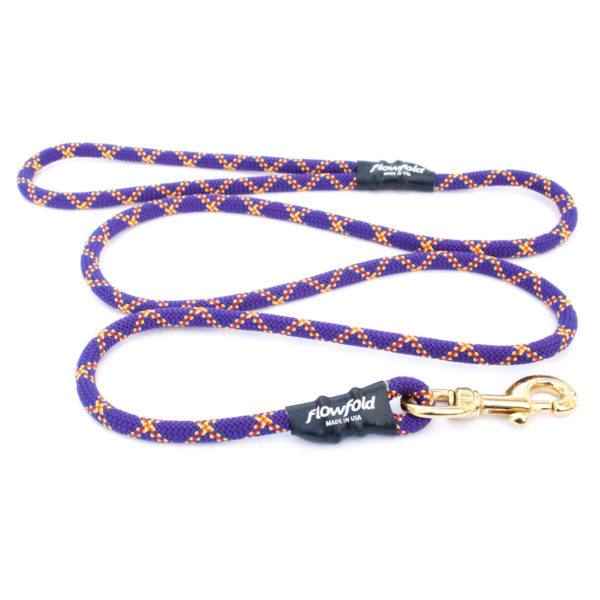 EarthHero - Trailmate 6 Ft Reclaimed Climbing Rope Dog Leash - Purple