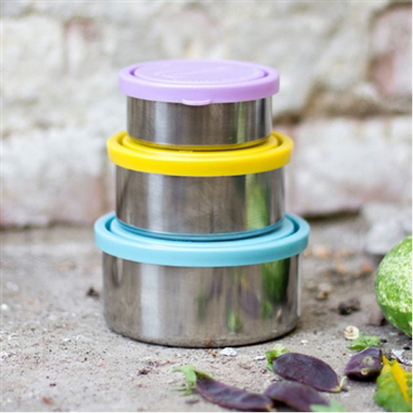 EarthHero - Stainless Steel Food Storage Container Nesting Trio - 3pk 3