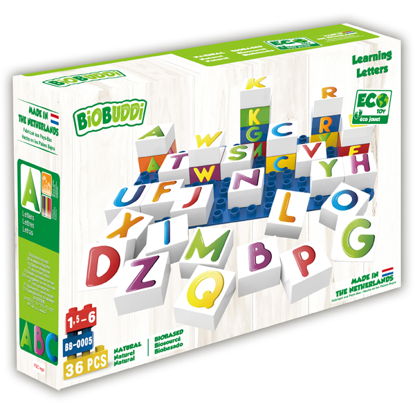 EarthHero - Learning Letters Plant Based Baby Blocks - 3