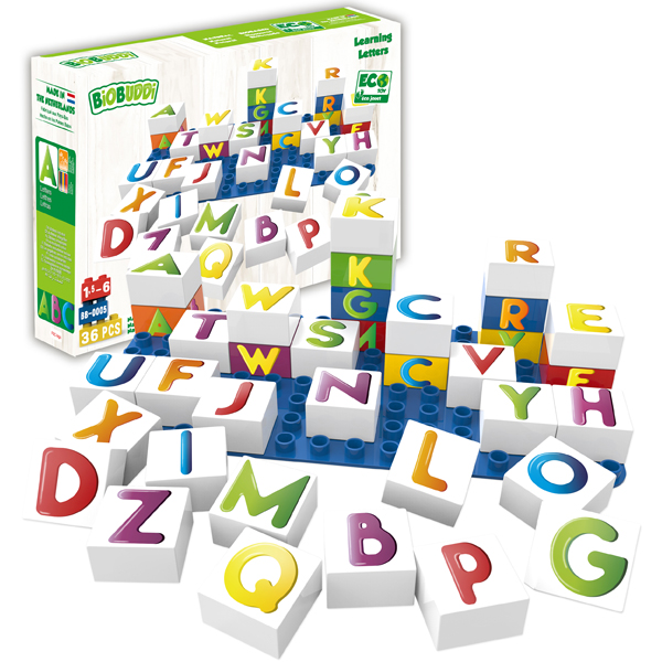 EarthHero - Learning Letters Plant Based Baby Blocks - 2