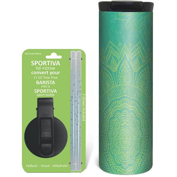 EarthHero - Blue Mandala Stainless Steel Tumbler - Coffee + Sport Lid