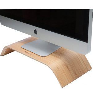 EarthHero - Bamboo Wood Monitor Stand - 1