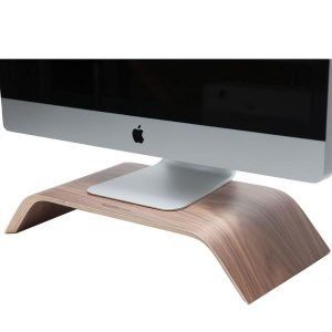EarthHero - Walnut Wood Monitor Stand - 1