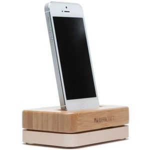 EarthHero - Bamboo iPhone Wooden Docking Station - Gold