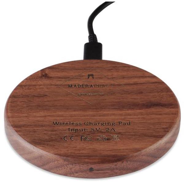 EarthHero - Walnut Wood Wireless Phone Charger - 1