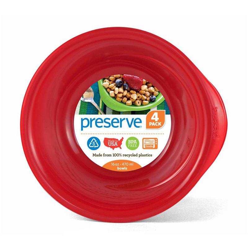 EarthHero - Everyday Reusable Plastic Bowls - 16oz. (4 Pk) - Pepper Red
