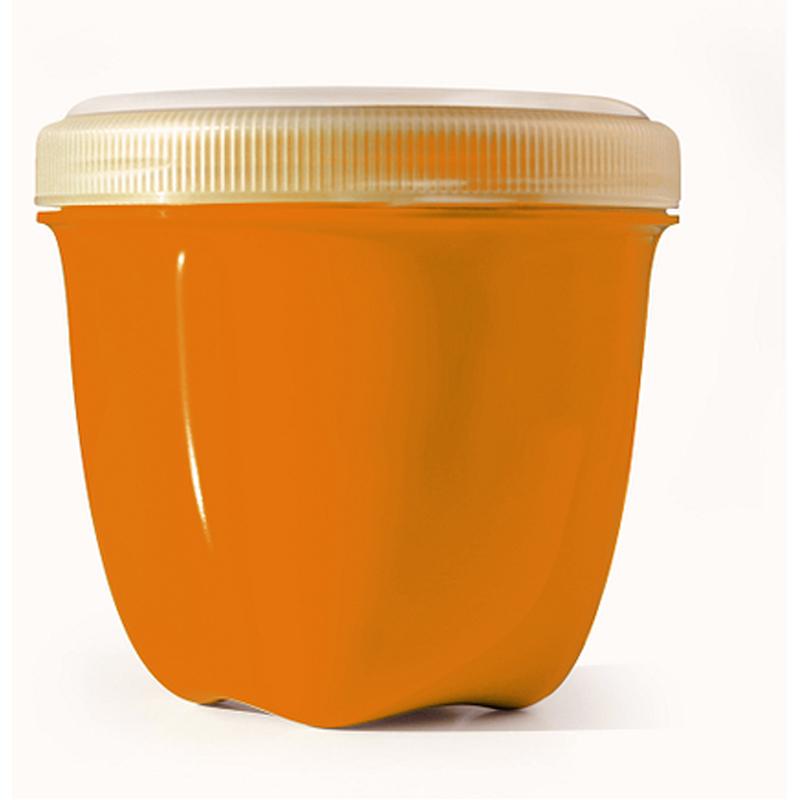 EarthHero - Mini Round Recycled Plastic Food Storage Containers - 8oz. - Orange
