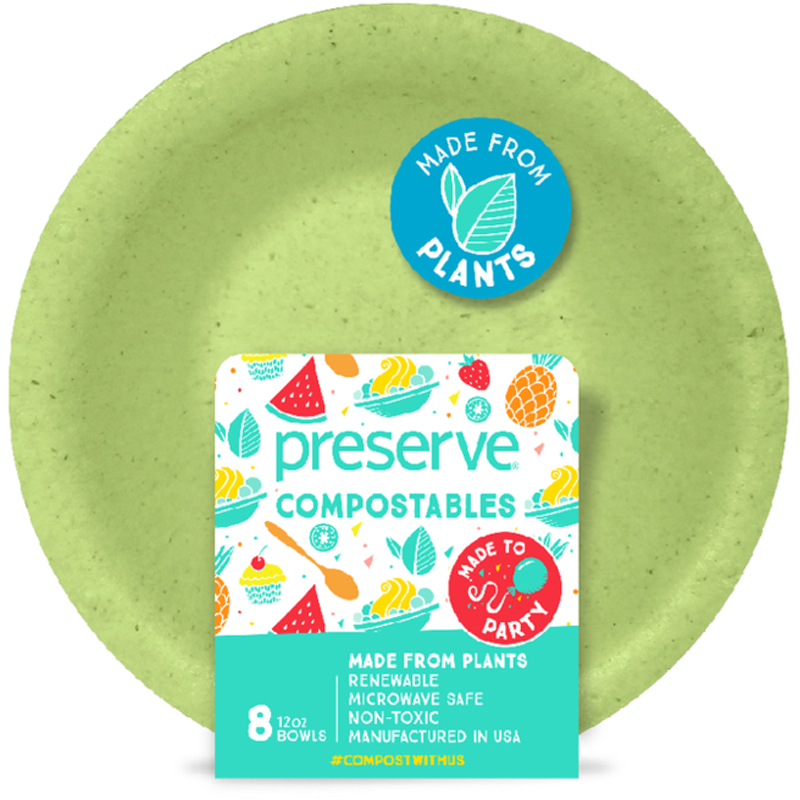 EarthHero - Compostable Bowls - 12oz. (8 Pk) - Green