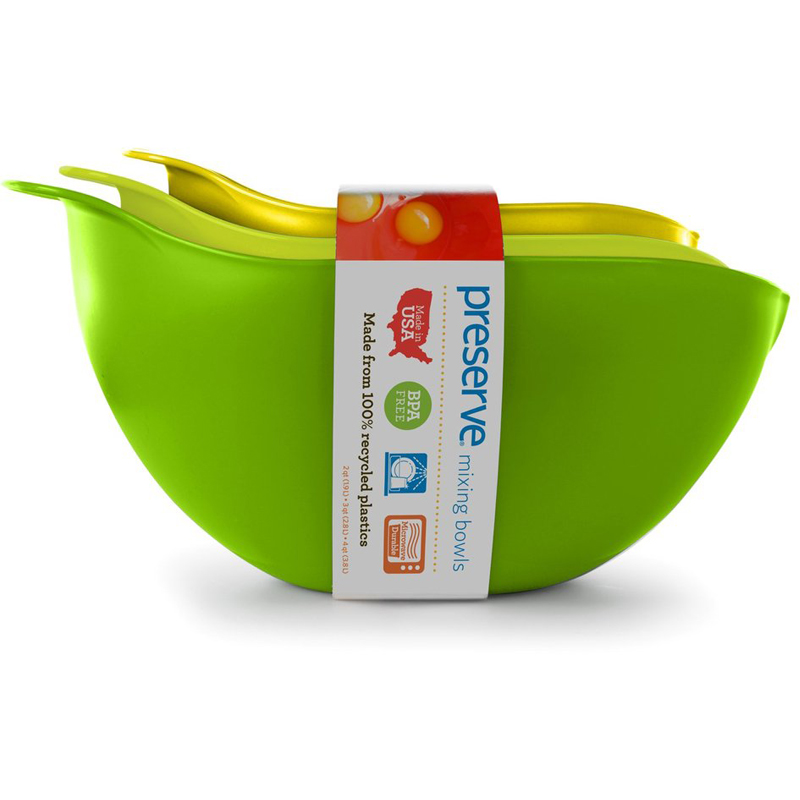 EarthHero - Recycled Plastic Mixing Bowls - Set of 3 - 1