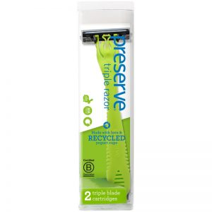 EarthHero - Recycled Plastic Triple Preserve Razor  - Pear Green