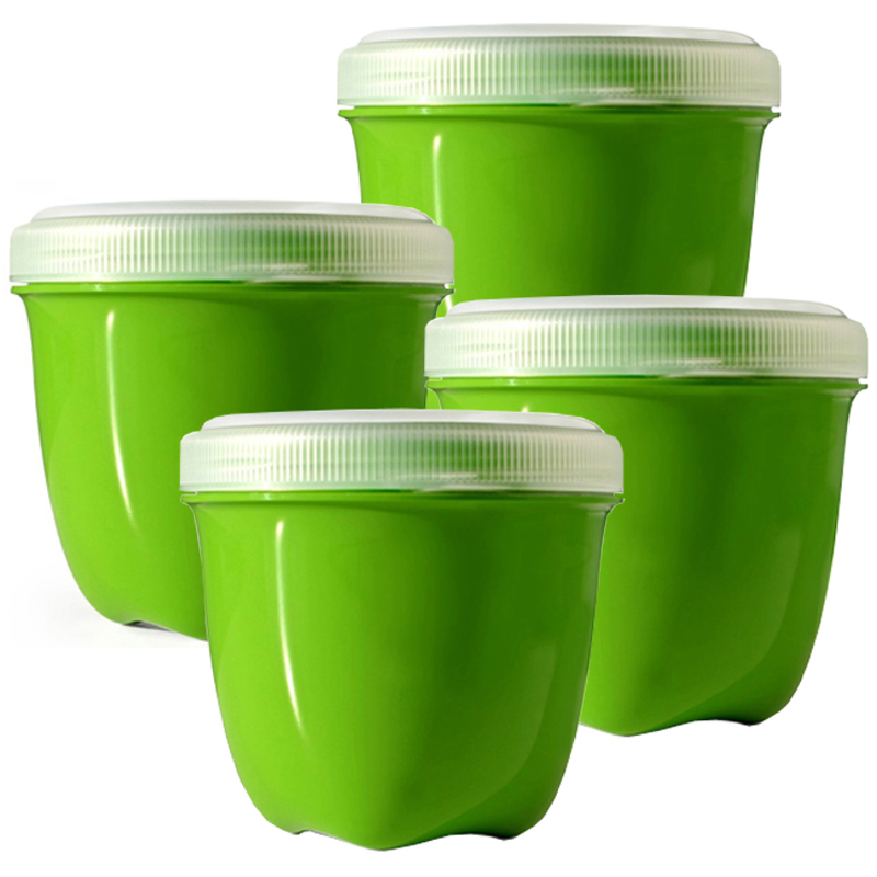 EarthHero - Mini Round Recycled Plastic Food Storage Containers - 8oz - 4pk - 1