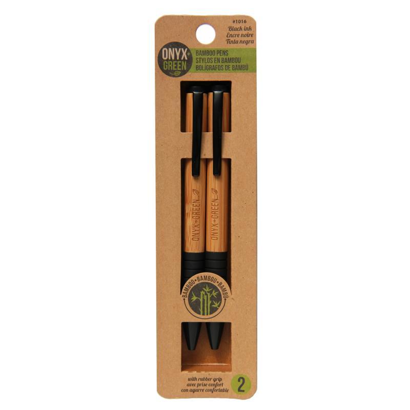 EarthHero - Ballpoint Bamboo Pen - Black 2pk