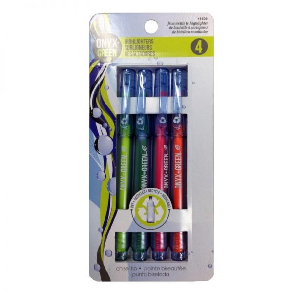 EarthHero - Recycled PET Fine Tip Highlighters - 4pk