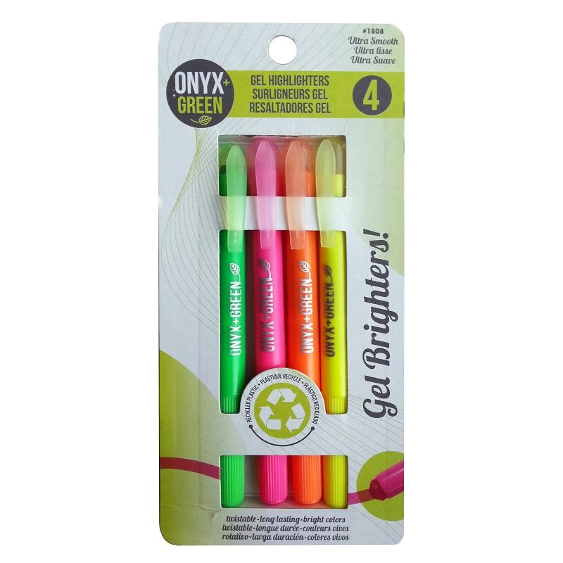 EarthHero - Recycled Plastic Gel Highlighters - 4pk