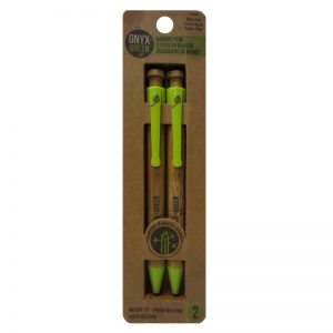 EarthHero - Retractable Ballpoint Bamboo Pen - Blue 2pk