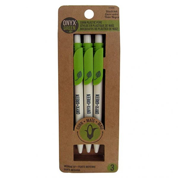 EarthHero - Retractable Recycled Plastic Gel Pens - Black 3pk