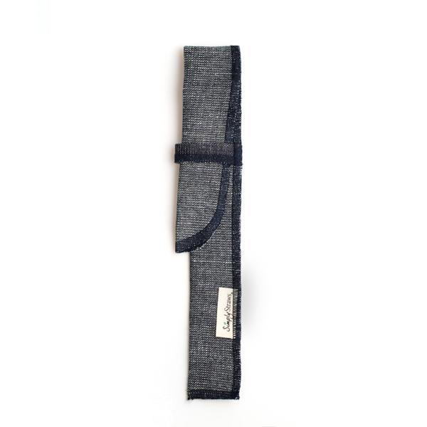 EarthHero - Reverse Denim Reusable Straw Sleeve