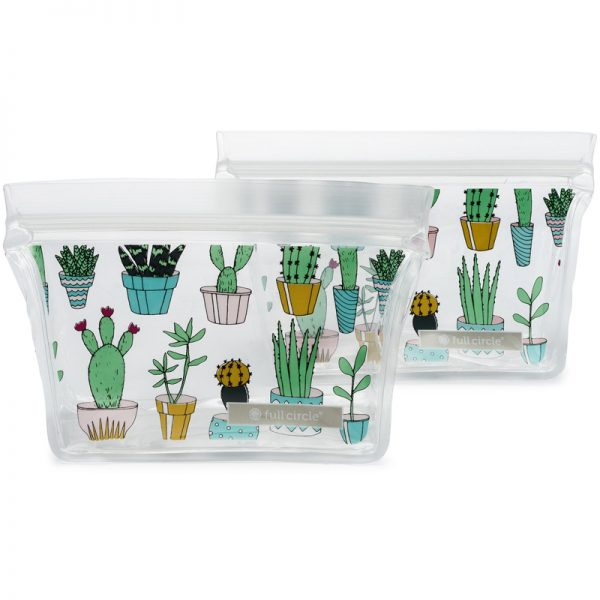 EarthHero - ZipTuck Reusable Snack Bags -  Cactus Party
