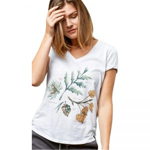 EarthHero - Women's Forest Flora V-Neck Tee - 1