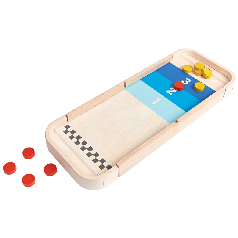 EarthHero - PlanToys 2-in-1 Shuffleboard Table Game - 1