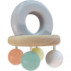 EarthHero - PlanToys Baby Wooden Bell Rattle - 1