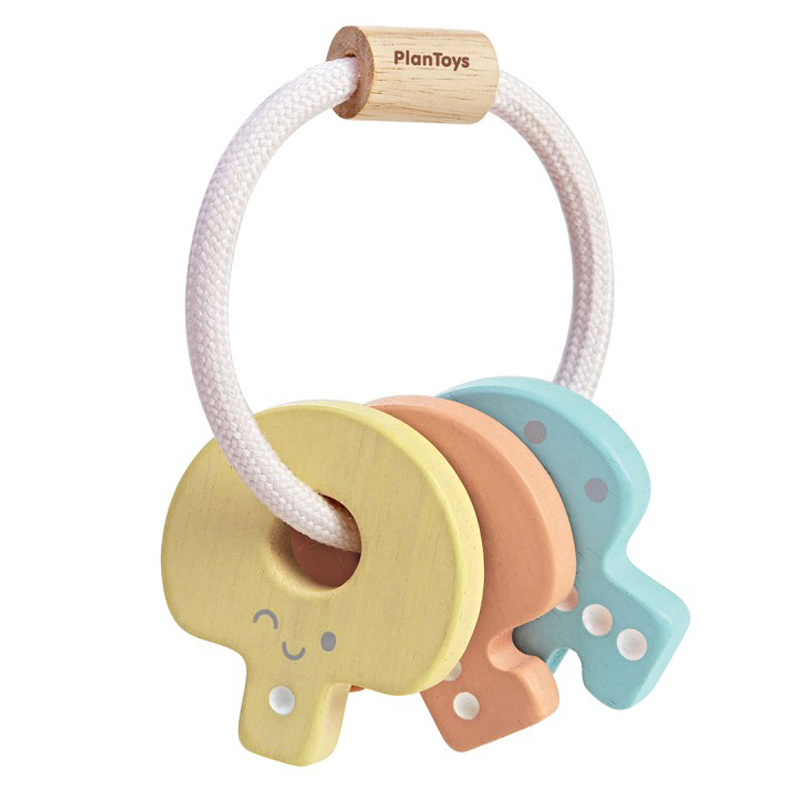 EarthHero - PlanToys Baby Wooden Key Rattle - 1