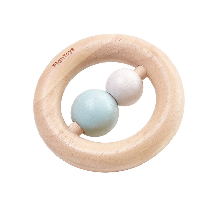 EarthHero - PlanToys Baby Wooden Ring Rattle - 1