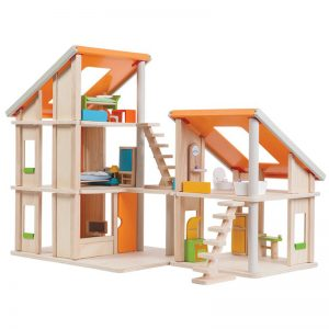 EarthHero - Chalet Wooden Dollhouse with Furniture - 1