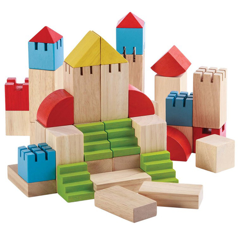 EarthHero - Castle Wooden Building Blocks - 35pc - 1