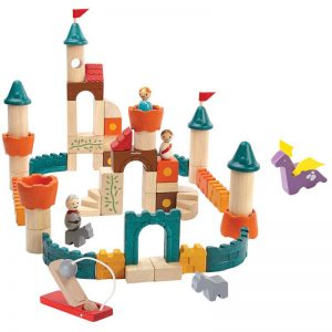 EarthHero - Fantasy Wooden Building Blocks - 60pc - 1