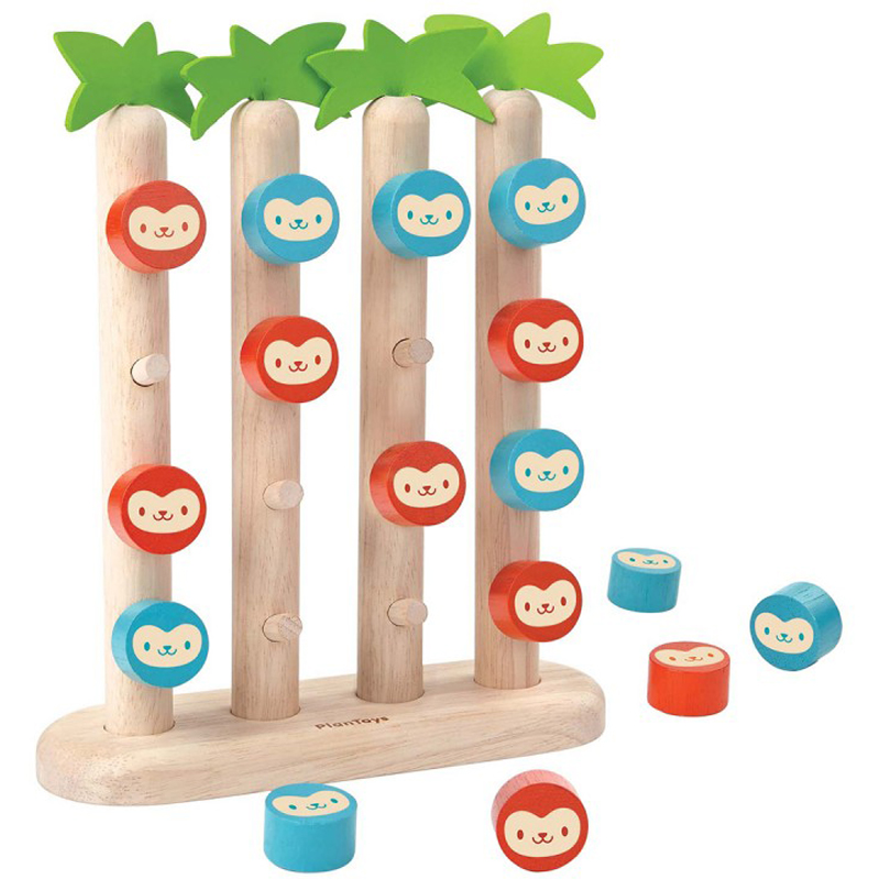 "EarthHero - PlanToys ""Four-In-A-Row"" Monkeys Game - 1"