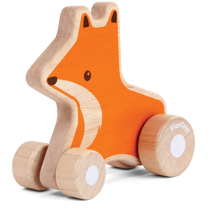 EarthHero - Fox Wheelie Wooden Baby Toy - 2