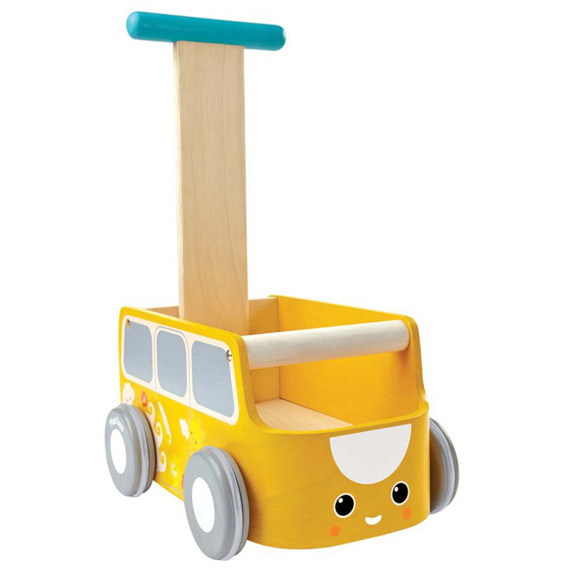 EarthHero - PlanToys Funky Van Baby Walker  - Yellow