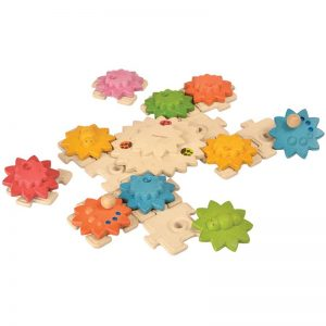 EarthHero - Gears & Puzzles Kids Game - 24pc - 1