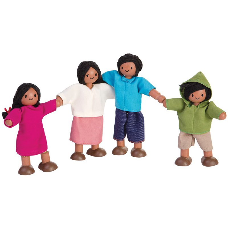 EarthHero - PlanToys Happy Doll Family  - Mediterranean