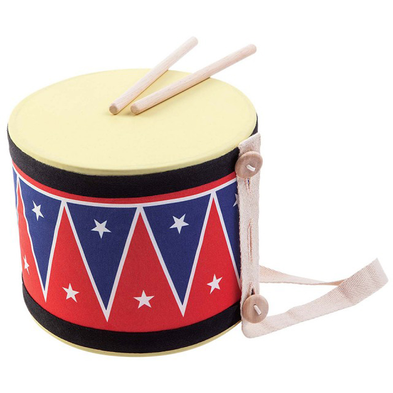 EarthHero - PlanToys Natural Rubber Big Drum - Red & Blue