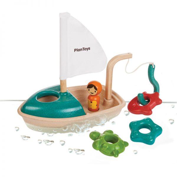 EarthHero - Plan Toy Wooden Activity Boat - 1