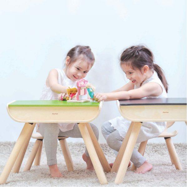 EarthHero - Kids Wooden Table & Chair - 4