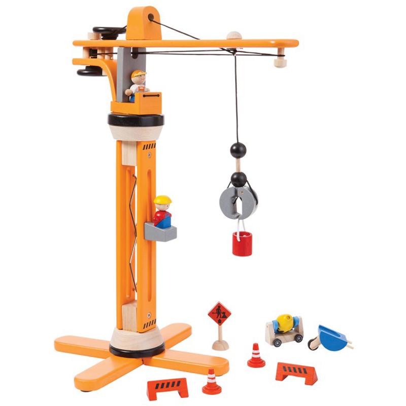 EarthHero - Kids Wooden Toy Crane - 1