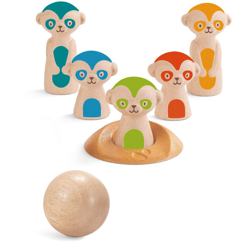 EarthHero - PlanToys Meerkat Bowling Set - 1