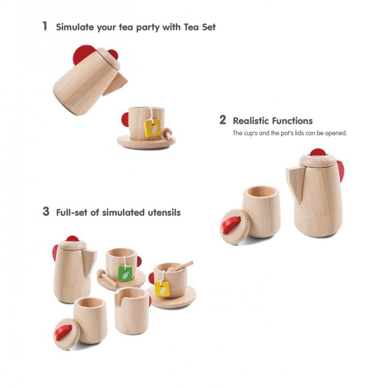EarthHero - Pretend Play Tea Time Set - 3