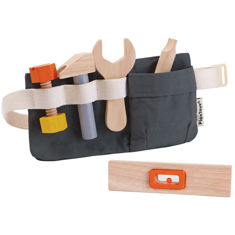 EarthHero - Pretend Play Wooden Tool Belt  - 1