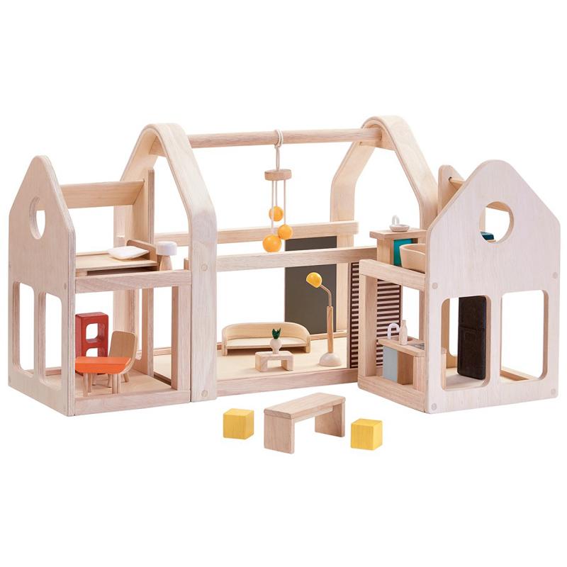 EarthHero - Slide N' Go Wooden Dollhouse - 1