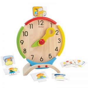 EarthHero - PlanToys Wooden Learning Clock - 1