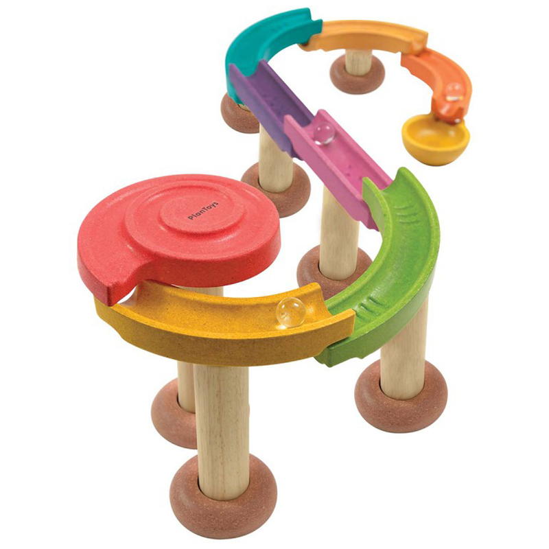 EarthHero - Wooden Marble Run Game - 20pc - 1