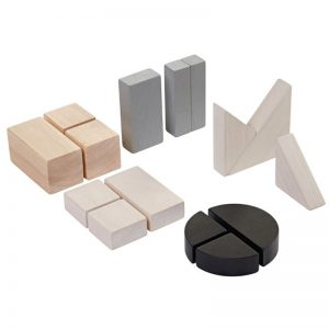 EarthHero - Wooden Math Blocks Fraction Blocks - 1