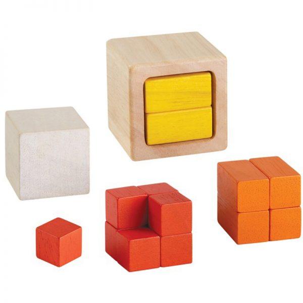 EarthHero - Wooden Math Blocks Fraction Cubes - 1